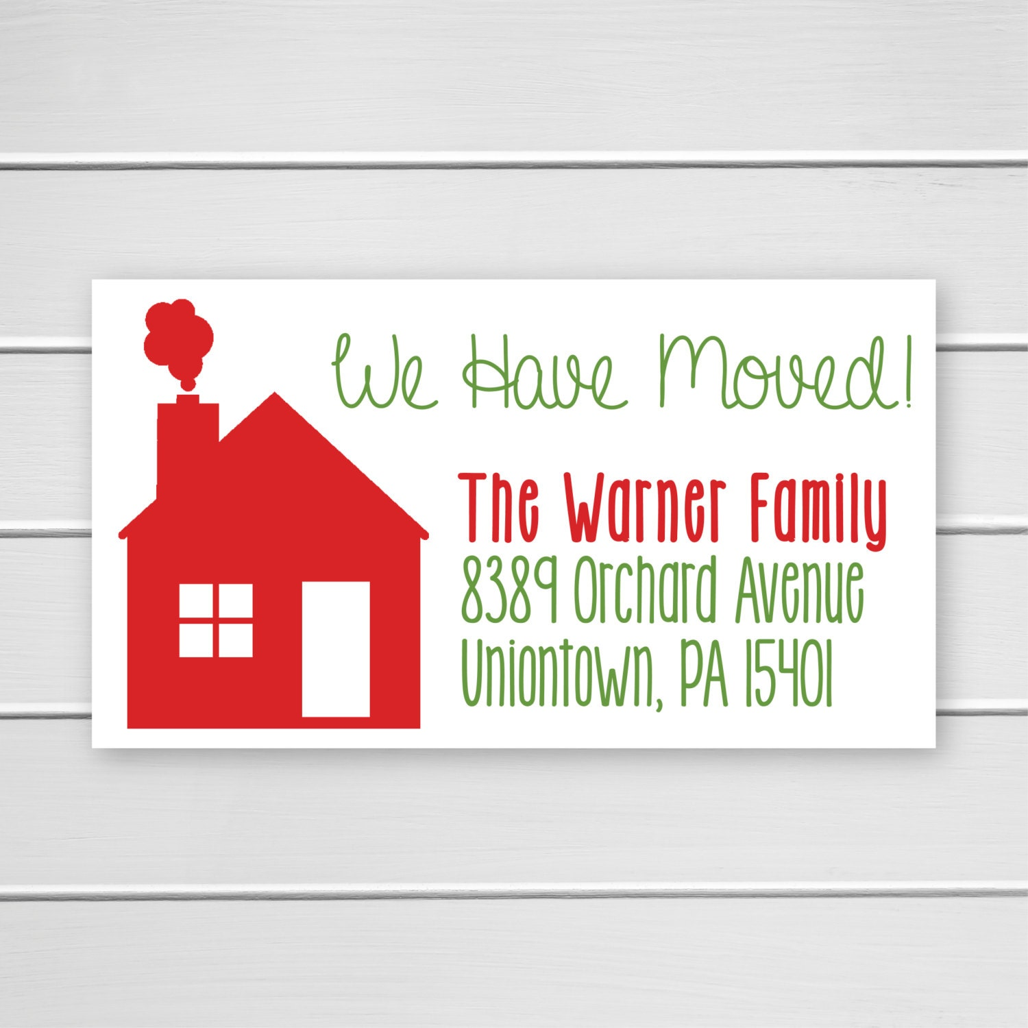 We Have Moved Stickers For Christmas Cards Holiday Weve Etsy