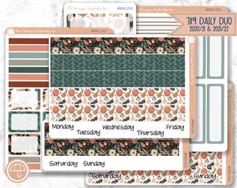 7x9 Daily Duo 2021/2022 Fall Market Mini Kit Planner Stickers, Plum Paper Sticker Kit, Daily Planner Kit, FJP (Fall Farmer's Market 882-241)