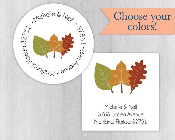 wedding invitation return address label autumn invitation etsy