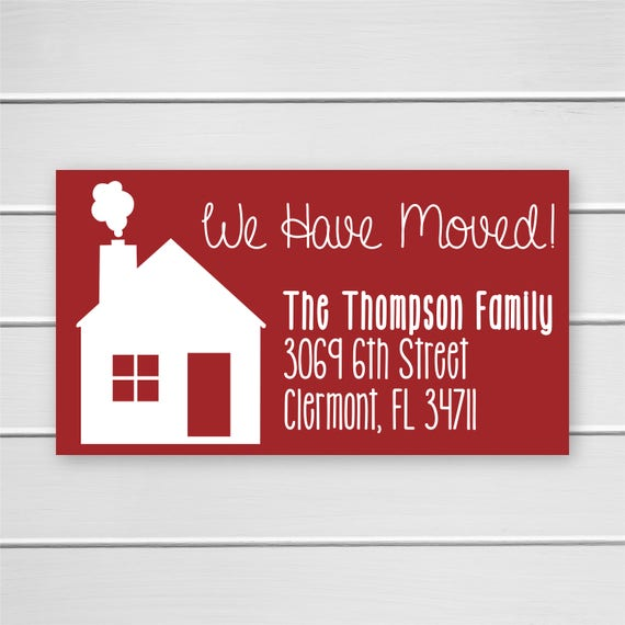 We have moved stickers christmas holiday weve moved