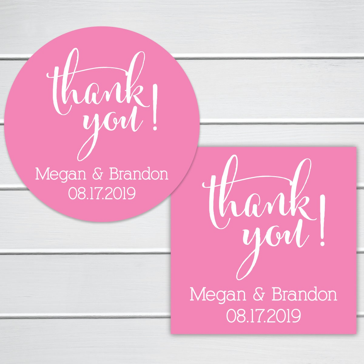 Thank You for Celebrating Stickers Wedding Thank You Sticker
