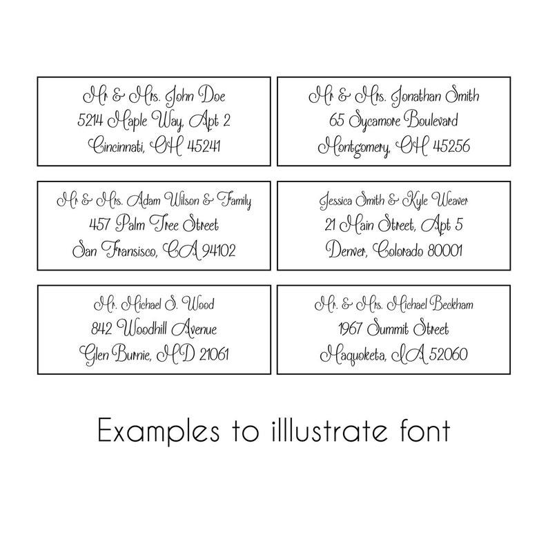 Deliver To Address Stickers #317-MT-C Address Labels for Black Envelopes To: Wedding Address labels Custom Wedding Address Labels