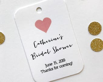 Bridal Shower Thank you Tags, Bridal Shower Favor Tags, Small Shower Favor Tags (RR-031-V)