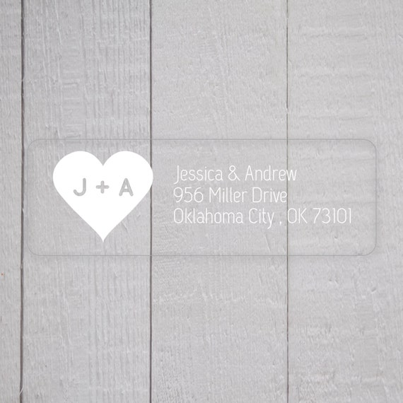 wedding invitation return address labels white ink clear