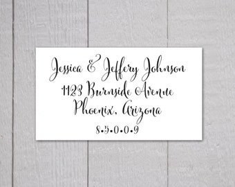 Calligraphy Address Stickers, Fancy Return Address Labels, Return Address Stickers (#339-L)