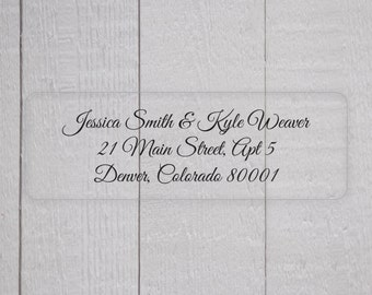 Return Address Labels, Clear Transparent Return Address Stickers, Formal Address Stickers (#318-C)