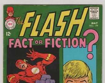 Flash; Vol 1, 179, Silver Age Comic Book.  FN- (7.0). May 1968.  DC Comics
