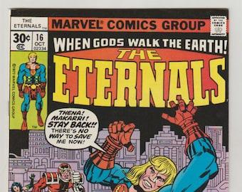 Eternals; Vol 1, 16, Bronze Age Comic Book. VF/NM (9.0). October 1977.  Marvel Comics
