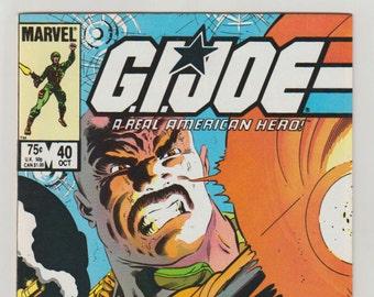 G. I. Joe, A Real American Hero: Vol 1, 40, Copper Age Comic Book. NM- (9.2). October 1985. Marvel Comics