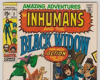 Amazing Adventures; Vol 2, 3, Bronze Age Comic Book. VF (8.0). November 1970. Marvel Comics