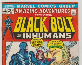Amazing Adventures; Vol 2, 10, Bronze Age Comic Book. VF- (7.5). January 1972. Marvel Comics