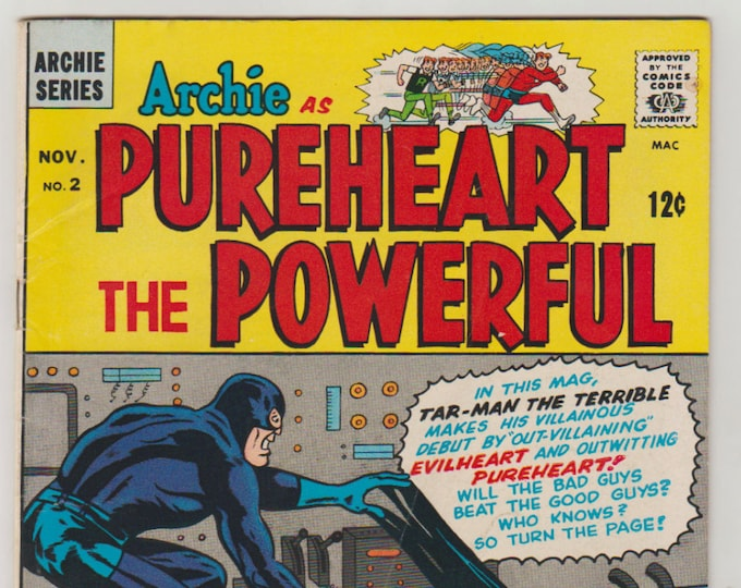 Archie as Pureheart the Powerful; Vol 1, 2, Silver Age Comic Book. FN (6.0). November 1966. Archie Comics Publications