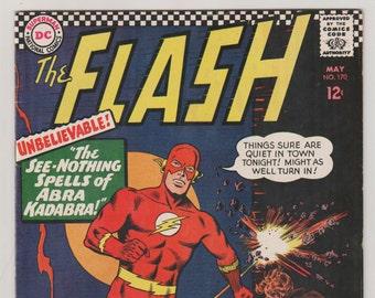 Flash; Vol 1, 170 Silver Age Comic Book  VF- (7.5). May 1967.  DC Comics