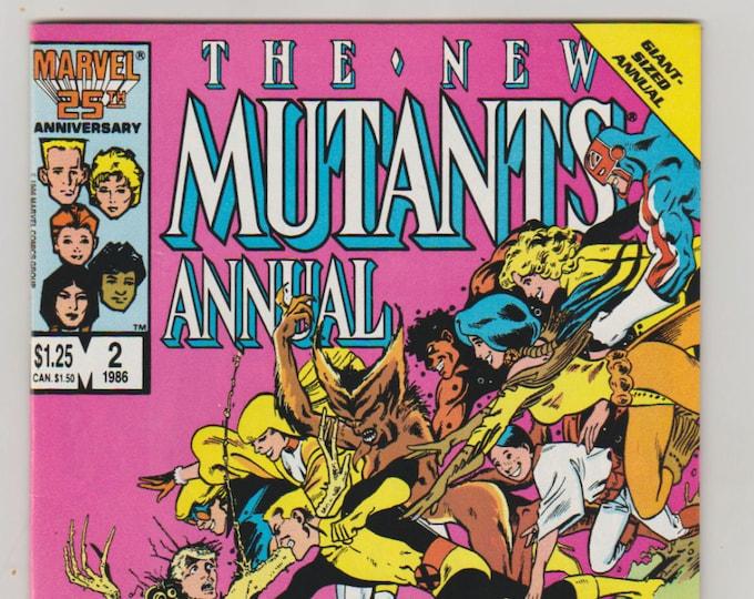 New Mutants; Vol 1, Annual 2 Copper Age Comic Book.  NM- (9.2). Oct 1986.  Marvel Comics