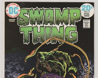 Swamp Thing; Vol 1, 8 Bronze Age Comic Book.  NM- (9.2).  February 1974.  DC Comics