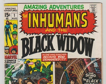 Amazing Adventures (the Inhumans and Black Widow); Vol 2, 1 Bronze Age Comic Book. FN (6.0). August 1970. Marvel Comics