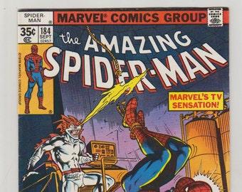 Amazing Spider-Man; Vol 1, 184, Bronze Age Comic Book. VF+ (8.5). September 1977.  Marvel Comics