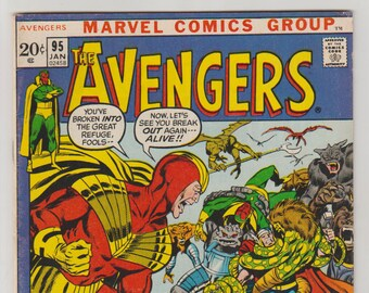 Avengers; Vol 1, 95, Bronze Age Comic Book. FN- (5.5). January 1972.  Marvel Comics