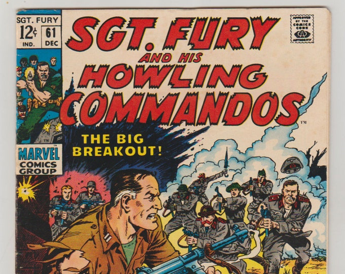 Sgt. Fury and his Howling Commandos; Vol 1, 61, Silver Age Comic Book. FN/VF (7.0). December 1968. Marvel Comics