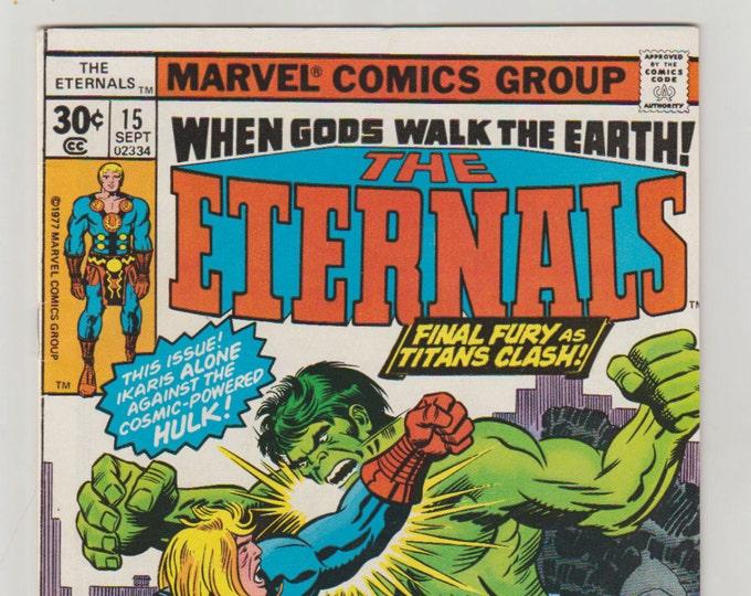 Eternals; Vol 1, 15, Bronze Age Comic Book. VF (8.0). September 1977. Marvel Comics