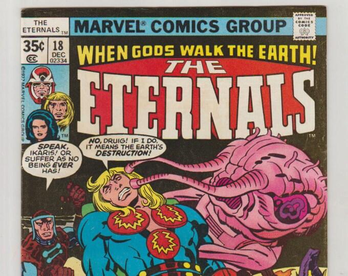 Eternals, Vol 1, 18, Bronze Age Comic Books. FN/VF (7.0). December 1977. Marvel Comics
