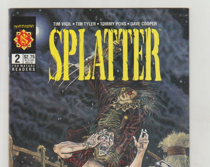Splatter, Vol 1, 2, Copper Age Comic Book. NM (9.4). November 1991.  Northstar Comics