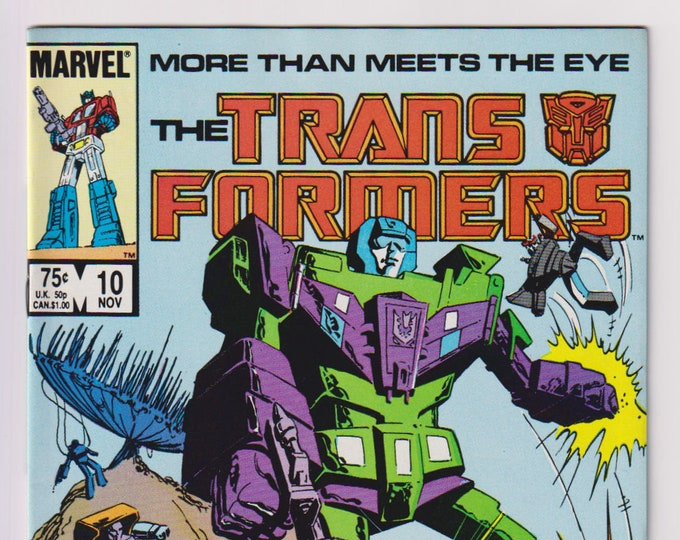 Transformers; Vol 1, 10, Copper Age Comic Book. VF/NM (9.0). November 1985, Marvel Comics