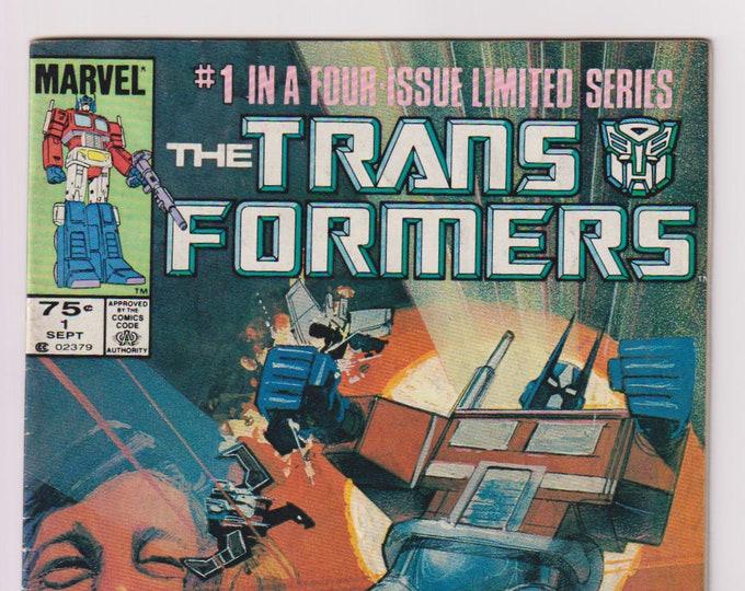Transformers; Vol 1, 1, 1st Printing, Copper Age Comic Book. VG/FN (5.0). September 1984. Marvel Comics.