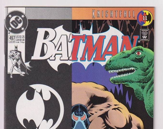 Batman; Vol 1, 497 First Direct Market Printing with Half Cover Cardstock Overlay, Modern Age Comic Book. NM (9.4). July 1993. DC Comics