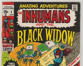 Amazing Adventures; Vol 2, 4, Bronze Age Comic Book. VF- (7.5). January 1971. Marvel Comics