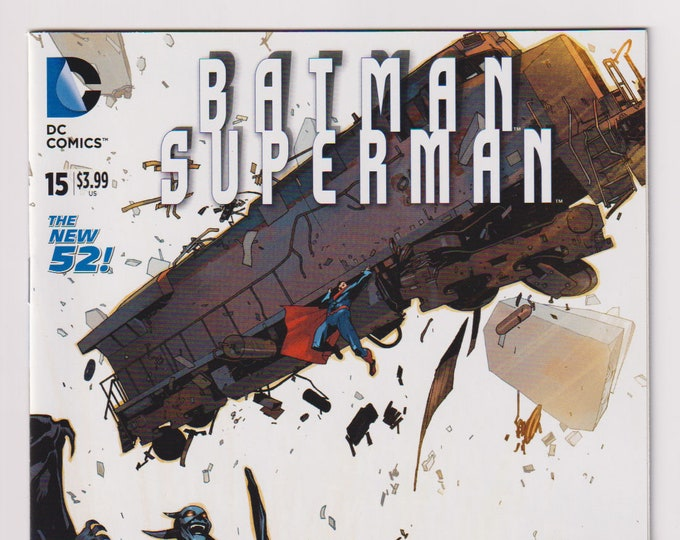 Batman / Superman; Vol 1, 15, Modern Age Comic Book. 1:25 Bengal Cover Dealer Variant. NM to NM+ (9.4 - 9.6). December 2014. DC Comics
