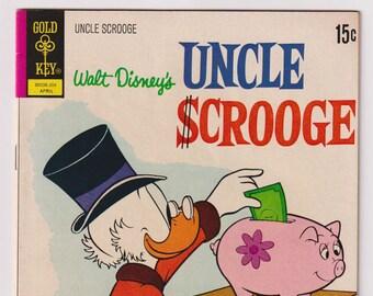 Walt Disney's Uncle Scrooge; Vol 1, 98, Bronze Age Comic Book. VF- (7.5). April 1972. Gold Key Comics