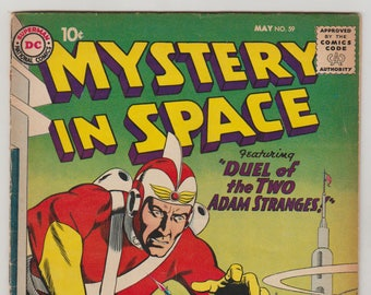 Mystery in Space: Vol 1, 59, Silver Age Comic Book. GD+ (2.5). May 1960. DC Comics