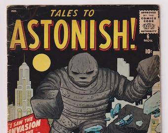 Tales to Astonish; Vol 1, 6, Silver Age Horror / Sci-Fi Comic Book. GD+ (2.5). November 1959. Atlas Comics (Marvel Comics)