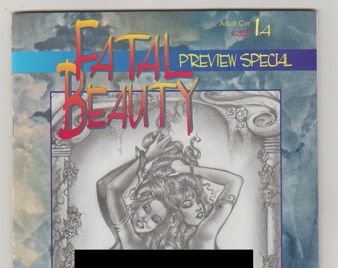 Fatal Beauty; Vol 1, 1A, Modern Age Good Girl/ Bad Girl Comic Book, Adult Cover Variant. NM (9.4). June 1996. Illustration Studio