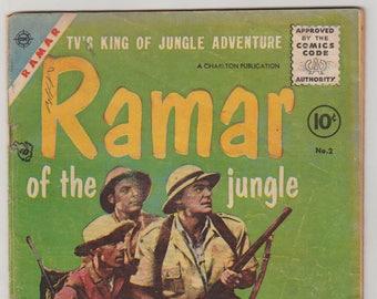 Ramar of the Jungle; Vol 1, 2, Golden Age Comic Book. VG- (3.5). September 1955. Toby Press