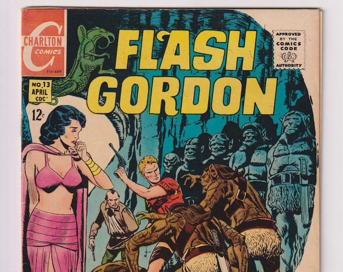 Flash Gordon; Vol 2, 13, Silver Age Comic Book. FN+ (6.5). April 1969. Charlton Comics