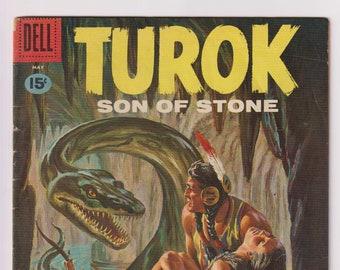 Turok Son of Stone; Vol 1, 23, Silver Age Comic Book. VG (4.0). May 1961. Dell Comics