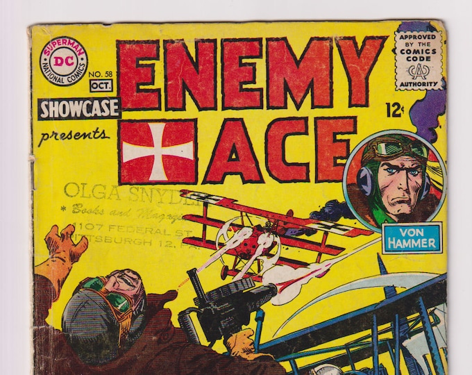 Showcase (featuring Enemy Ace); Vol 1, 58, Silver Age Comic Book. GD (2.0). October 1965. DC Comics