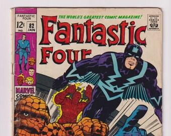 Fantastic Four; Vol 1, 82, Silver Age Comic Book. VG- (3.5). January 1969. Marvel Comics