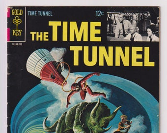 The Time Tunnel; Vol 1, 1, Silver Age Comic Book. VG (4.0). February 1967. Gold Key Comics