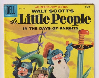 Four Color Comics (Walt Scott's Little People); Vol 2, 809, Silver Age Comic Book. VG/FN (5.0). 1957. Dell Comics
