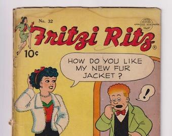 Fritzi Ritz; Vol 1, 32, Golden Age Romance Comic Book. GD (2.0). February 1954. United Feature Syndicate.