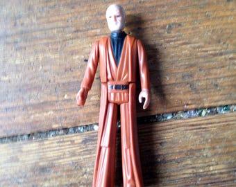 1977 Obi Wan Kenobi, White Hair Variant Star War Action Figure. Loose. Kenner Inc