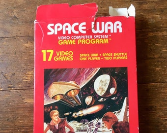 1978 Space War; ROM Video Game Cartridge, Atari 2600.  With Instructions and box. Atari Inc.