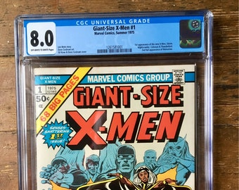 Giant-Size X-Men; Vol 1, 1, Bronze Age Comic Book. CGC Graded 8.0 (VF). May 1975. Marvel Comics
