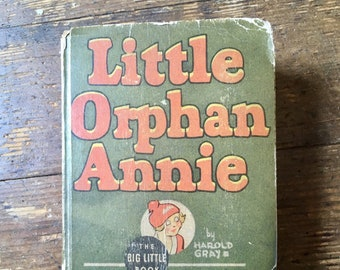 1935 Little Orphan Annie and the the Punjab Wizard, Big Little Book.  Harold Gray. VG. Western Publishing