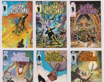 The Bozz Chronicles; Vol 1, 1 throught 6, Full Copper Age Comic Book Limited Series. NM- (9.2). 1985 - 1986. Epic Comics (Marvel Comics)
