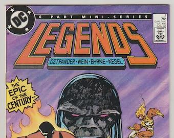 Legends; Vol 1, 1 Copper Age Comic Book (with attached MASK insert).  NM (9.4).  November 1986.  DC Comics