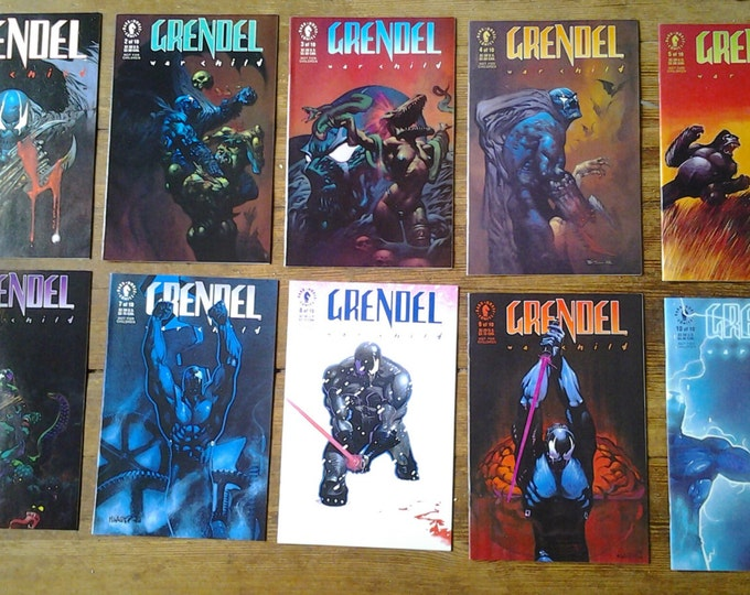 Grendel: War Child; V1, 1 through 10 (Limited Series) Comic Book Lot. NM to NM+ (9.4 - 9.6) Range. 1992 - 1993.  Dark Horse Comics